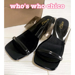 who's who Chico - who's who chico クリアサンダル ブラック L
