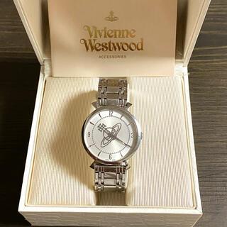 ヴィヴィアンウエストウッド(Vivienne Westwood)の【大特価!!】ヴィヴィアン オーブ文字盤 腕時計 ホワイト×シルバー 夏🎀(腕時計)