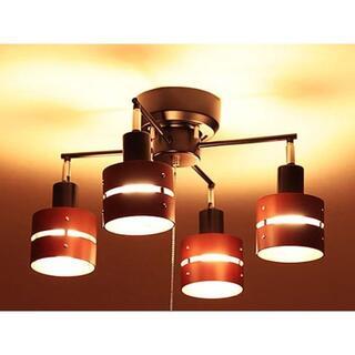 【選べる6カラー】シーリングライト LED対応 スポットライト 4灯 |照明 (天井照明)