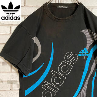 adidas - 90s 古着 アディダス Tシャツ ロゴプリント ビッグプリント