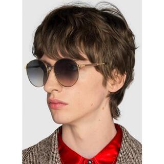 グッチ(Gucci)の即完売品 GUCCI ラウンドフレーム メタル サングラス アジアンフィット(サングラス/メガネ)