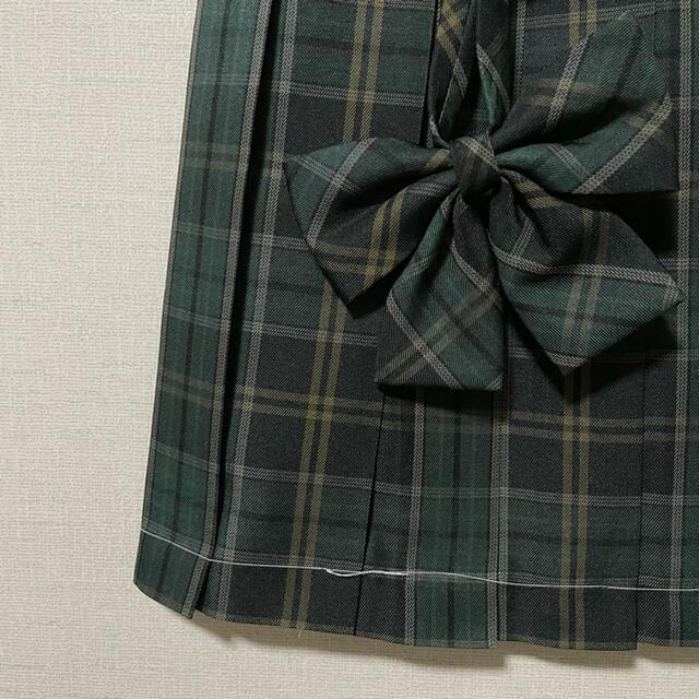【新品82M】リボンつき なんちゃって制服スカート チェックスカート レディースのスカート(ひざ丈スカート)の商品写真