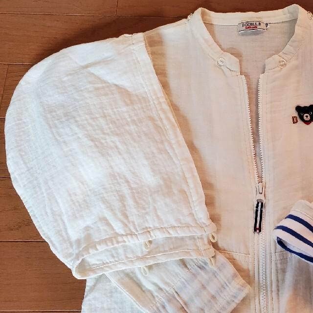 DOUBLE.B(ダブルビー)のミキハウス ダブルB ガーゼ パーカー 130 キッズ/ベビー/マタニティのキッズ服男の子用(90cm~)(ジャケット/上着)の商品写真