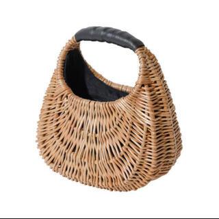エイミーイストワール(eimy istoire)のeimyistoire ピクニックバッグ ブラック  かごバッグ 半月(かごバッグ/ストローバッグ)