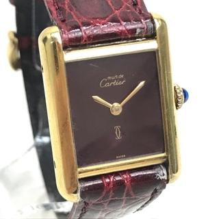 カルティエ(Cartier)のカルティエ ヴィンテージ マストタンク ヴェルメイユ レディース腕時計 手巻き(腕時計)