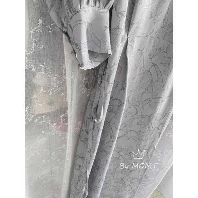 FRAY I.D(フレイアイディー)のフレイ アイディー ジャガードフラワーカシュクールワンピース レディースのワンピース(ロングワンピース/マキシワンピース)の商品写真