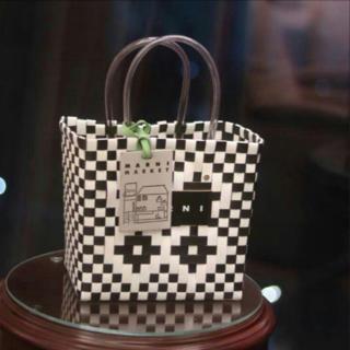 マルニ(Marni)の新品 マルニ MARNI フラワーカフェ ピクニックカゴバッグ(かごバッグ/ストローバッグ)
