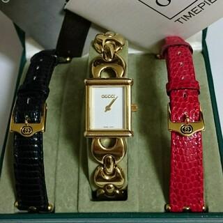 グッチ 時計 GUCCI 腕時計 1800L 新品電池 チェンジベルト