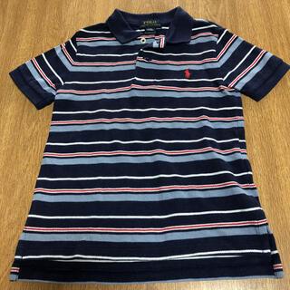 ポロラルフローレン(POLO RALPH LAUREN)のラルフローレン ポロシャツ 110 半袖 ボーダー 紺色(Tシャツ/カットソー)