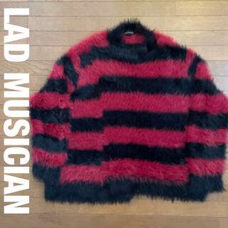 LAD MUSICIAN - LAD MUSICIAN ボーダーニット サイズ44  レッドブラック