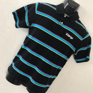 エクストララージ(XLARGE)のX-LARGE ESTABLISHED ボーダー ロゴ 半袖 ポロシャツ S(ポロシャツ)
