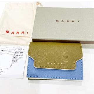 Marni - 新品同様!定価51700円 マルニ 牛革 折りたたみ財布 ミニ財布 バイカラー