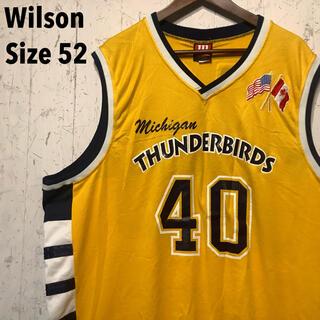 ウィルソン(wilson)のWilson ミシガンサンダーバーズ バスケット ユニフォーム イエロー (シャツ)