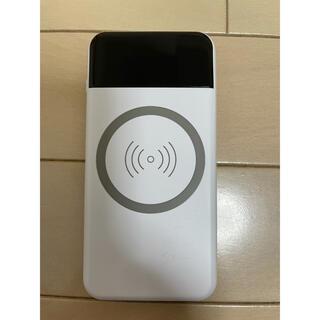 モバイルバッテリー 大容量 Qi 10000mAh POWER BANK(バッテリー/充電器)