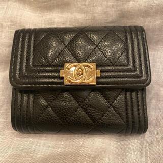 CHANEL - chanel ボーイ 三つ折り財布