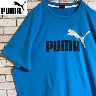 PUMA - 90s 古着 プーマ Tシャツ ロゴプリント ビッグシルエット ゆるだぼ