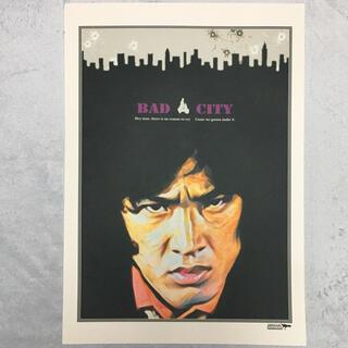 大型A3サイズ送料込ポップアート「BAD CITY」グレー(アート/写真)