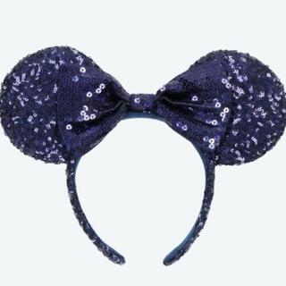 Disney - ディズニー カチューシャ スパンコール ネイビー 青