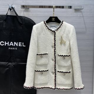 CHANEL - ◆Chanel◆ジャケット ツイード アウター ホワイト