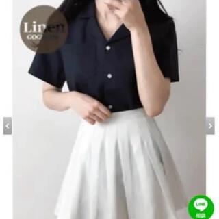 GOGOSING - ベーシック無地リネンシャツ ピンク 韓国