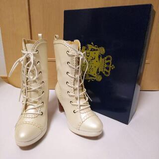 ALICE and the PIRATES - ALICE and the PIRATES★クララショートブーツ★S★靴★白