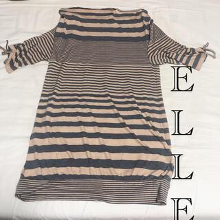エル(ELLE)のELLE エル ボーダー トップス ボートネック(Tシャツ(半袖/袖なし))