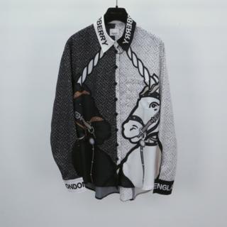 BURBERRY - 【Burberry】ユニコーンプリント シルクシャツ