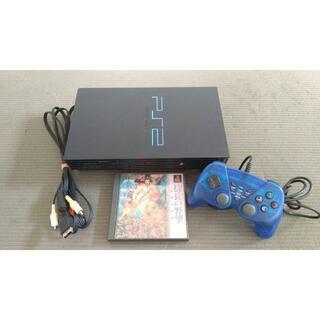 ソニー(SONY)のソニー PS2 本体+コントローラー+ソフト+ケーブル動作確認済み(家庭用ゲーム機本体)