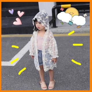 ラッシュガード レース 刺繍 カーディガン 上着 女の子 韓国