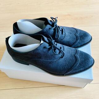 コウベレタス(神戸レタス)のオックスフォードシューズ レインシューズ スノーシューズ 防水加工 スエード 黒(レインブーツ/長靴)