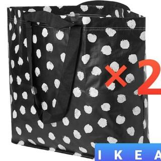 イケア(IKEA)のIKEA♥️新品♥️IKEA⭐スクルッティグ Mサイズ 2枚 ホワイト/ブラック(エコバッグ)