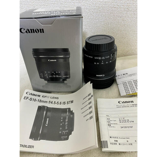Canon - CanonレンズEF-S10-18F4.5-5.6 IS STMプロテクター付き