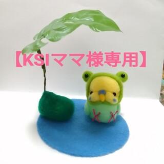 【KSIママ様専用】オーダーページ  雨宿りカエルインコちゃん(ぬいぐるみ)
