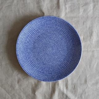 アラビア(ARABIA)の新品未使用 ARABIA  avec 24h 26cmプレート ブルー 旧ロゴ (食器)