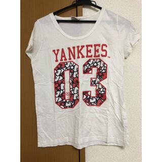 エルビーゼロスリー(LB-03)のLB-3 ハローキティコラボTシャツ ニューヨークヤンキース(Tシャツ(半袖/袖なし))