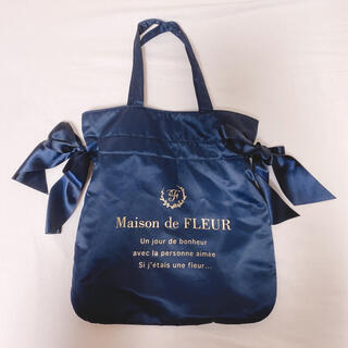 Maison de FLEUR - ダブルリボントートバッグ