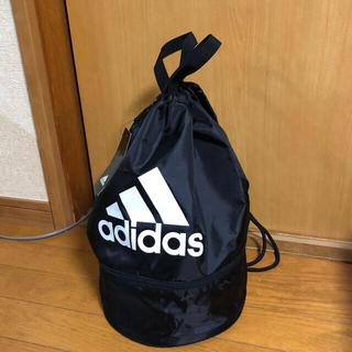 アディダス(adidas)の新品タグ付 アディダス プールバッグ 黒 14ℓ 2ルーム 水着入れ(その他)
