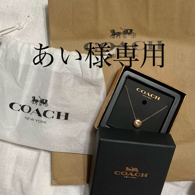 COACH(コーチ)のCOACH   ゴールドプレートサンバースト ストーンネックレス ピンクゴールド レディースのアクセサリー(ネックレス)の商品写真