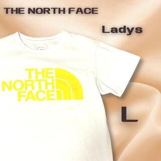 THE NORTH FACE - 美品 THE NORTH FACE ロゴプリント半袖Tシャツ ホワイト L