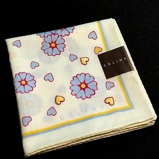 celine - CELINE ハンカチ ハートの刺繍