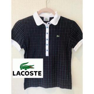 LACOSTE - ネイビー ラコステ lacoste ポロシャツ ネイビー レディース