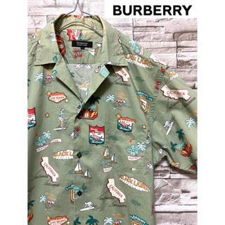 BURBERRY - 【希少】 バーバリー Burberry シャツ アロハ ブラックレーベル
