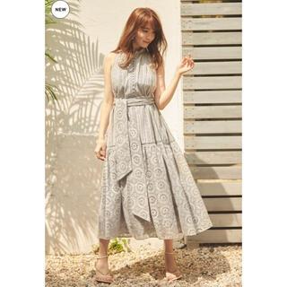 snidel - Lace-trimmed belted dress herlipto