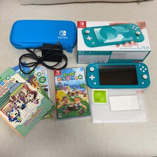 Nintendo Switch - ニンテンドースイッチライト(ターコイズ)、あつ森ソフトセット