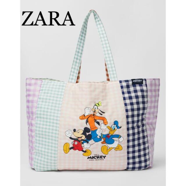 ZARA(ザラ)のラスト一点!ZARA♡ギンガムチェックディズニートートバッグ レディースのバッグ(トートバッグ)の商品写真