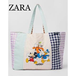 ZARA - ラスト一点!ZARA♡ギンガムチェックディズニートートバッグ
