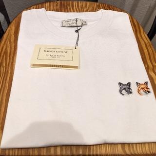 メゾンキツネ(MAISON KITSUNE')のXSサイズ メゾンキツネ Tシャツ ダブルフォックス(Tシャツ(半袖/袖なし))