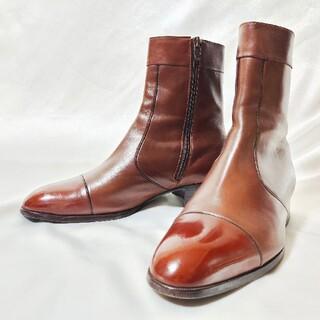 リーガル(REGAL)の大塚製靴 Otsuka Shoe ヒールブーツ サイドジップブーツ ブラウン(ドレス/ビジネス)