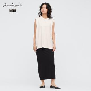 ◇新品◇ UNIQLO mame エアリズムコットンスリットスカート 黒 M