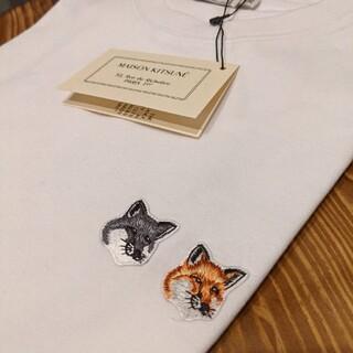 メゾンキツネ(MAISON KITSUNE')のSサイズ Tシャツ メゾンキツネ ダブルフォックス(Tシャツ(半袖/袖なし))